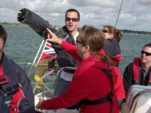 Sailing experience day. A day of big boat sailing.